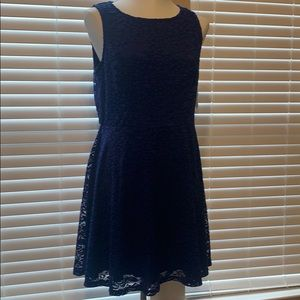 City Triangles dress lace material. Navy blue